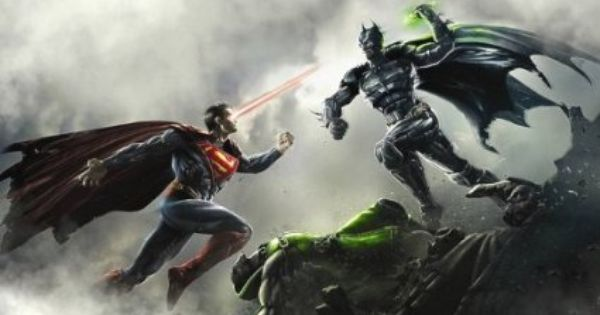 Amazon Com Injustice Gods Among Us Game Fabric Poster Print 40 X22 Superman Wallpaper Batman V Superman Dawn Of Justice Batman Comic Wallpaper