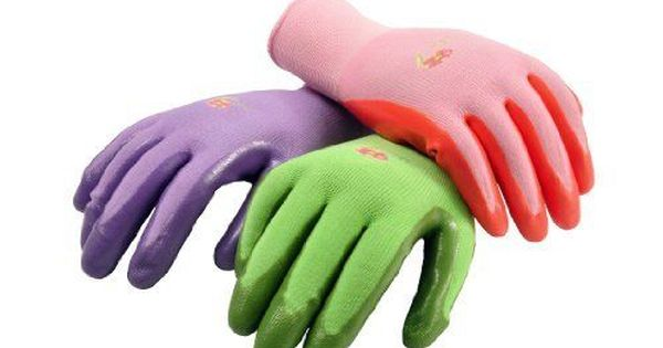 Womens Garden Gloves 6 Pack Pink Purple Green Medium Protective
