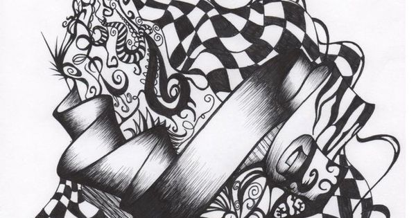 alice in wonderland pocket watch drawing wallpaper