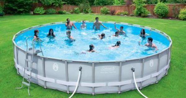 Salt Water Swimming Pools Walmart : Coleman quot power steel frame above ground swimming
