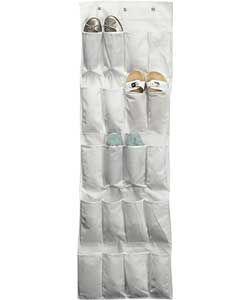 Door Hanging Shoe Rack.Home Hanging 20 Pocket Door Shoe Storage Natural Decor