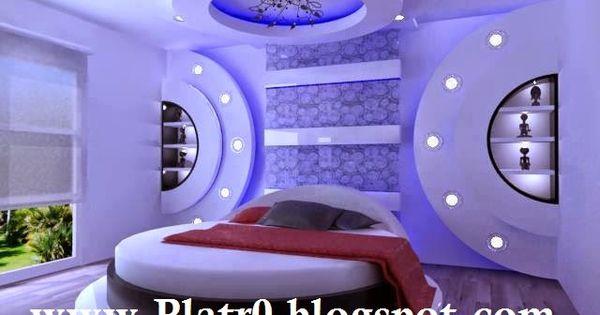 Faux plafond tres moderne pour chambre coucher 2015 faux plafond pinterest bed room - Bed plafond ...