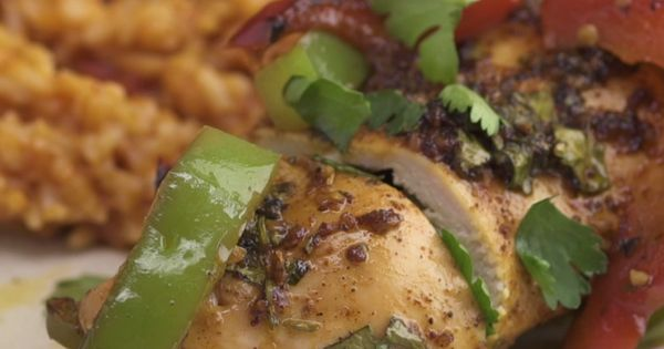 Chicken Fajita Roll-Up With Tomato Rice | Recipe | Powder ...