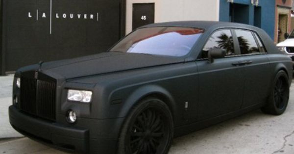 custom matte black paint job on a rolls royce with custom. Black Bedroom Furniture Sets. Home Design Ideas
