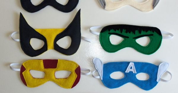 Superhero Masks - These are intended for kids, but I'm bustin' these