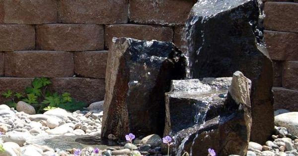 Fontaine jardin en pierre 25 id es de fontaine for Fontaine galet exterieur