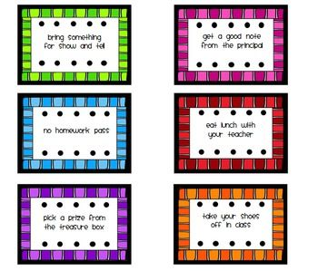 Behavior Punch Cards Editable Behavior Punch Cards Punch Cards Homeschool Organization