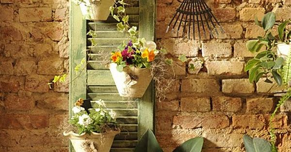 Love the flower pots..... from: Dishfunctional Designs: Upcycled: New Ways With Old