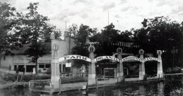 Park Island Amusement Park Lake Orion Mi 1870s Lake Orion