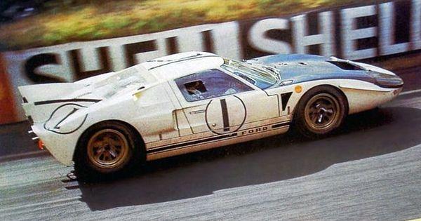 Ken Miles Bruce Mclaren Ford Gt40 Mk Ii Shelby American Inc