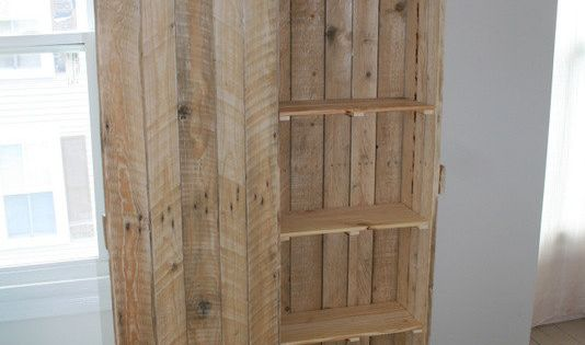 pallets diy crafts pinterest armoires en bois armoire palettes et garde manger. Black Bedroom Furniture Sets. Home Design Ideas