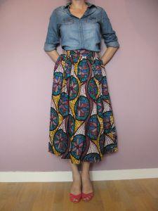 Jupe Wax | Jupe en wax, Tuto couture jupe et Tuto jupe