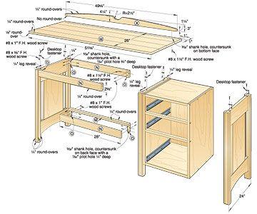 Kid S Oak Desk Woodworking Plan Woodworking Desk Plans Desk Plans Woodworking Furniture Plans