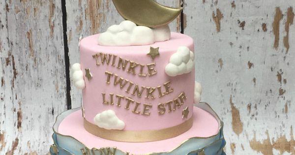 Twinkle Twinkle Little Star Gender Reveal Cake Baby 3