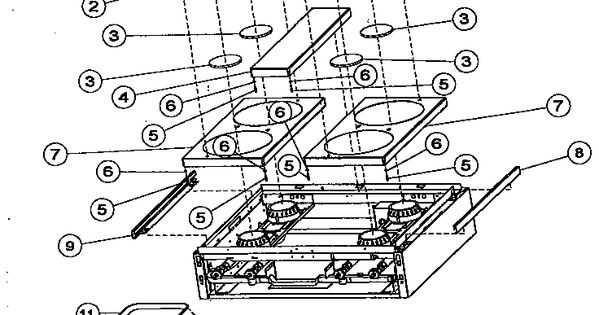 burner box exterior assembly diagram  u0026 parts list for