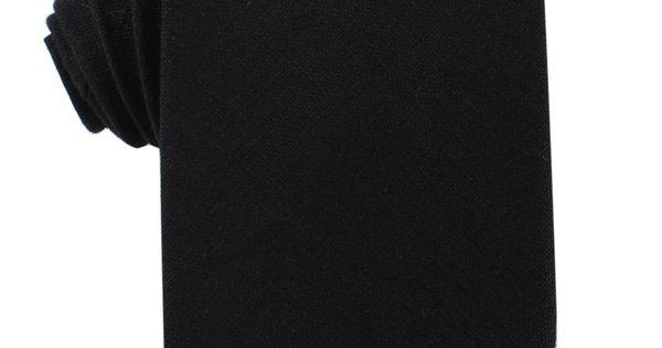 Black Linen Necktie | Wedding Ties Ties Neckties | The Brothers at OTAA | OTAA.COM