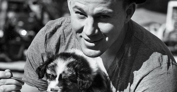 Channing Tatum Playing With A Puppy...excuse me while my heart melts a