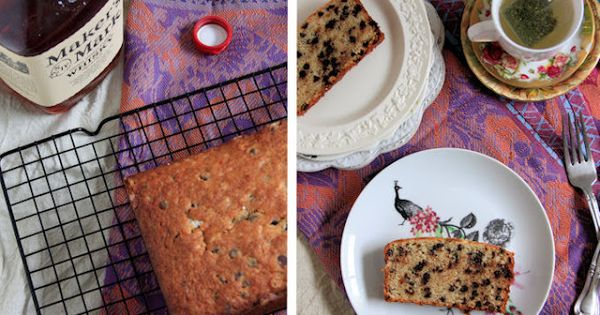 Chocolate bourbon-spiked banana bread. I am making this as I pin ...