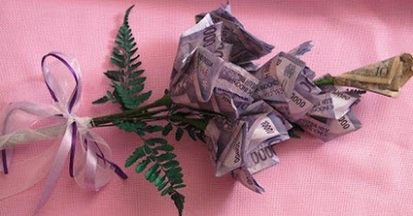 Ini Dia Cara Membuat Bunga Dari Uang Kertas Untuk Mahar Bunga Uang Kertas