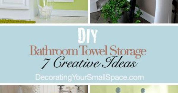 Diy bathroom towel storage 7 creative ideas bathroom towel storage towel storage and