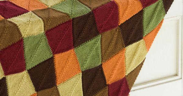 Falling Leaves Knitting Pattern : Falling Leaves Afghan Knitting Pattern Red Heart Crochet Afghans Pinter...