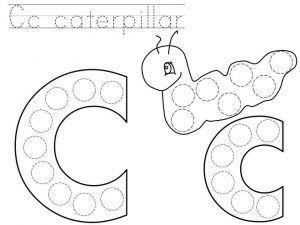 Do A Dot Letter C Printable Dot Letters Dot Worksheets