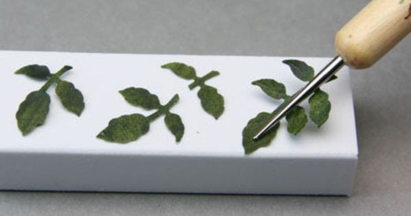 Paper leaf tutorial for miniature roses