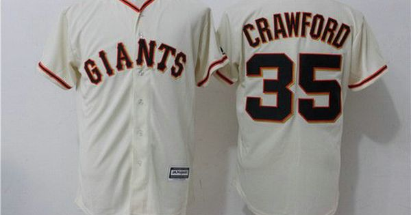 mens san francisco giants 35 brandon crawford name cream home stitched mlb majestic cool base