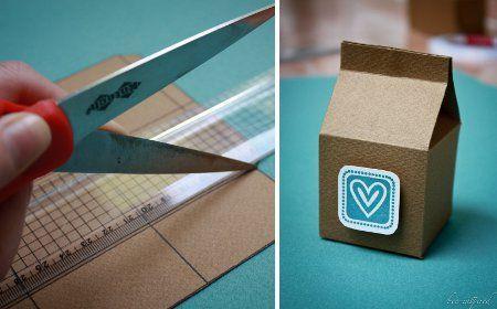 C mo hacer una caja de cart n reciclado cajitas - Como hacer una caja de carton ...