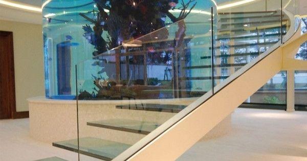 A Staircase That Wraps Around an Aquarium. @CaseyGlaude oh my gosh our