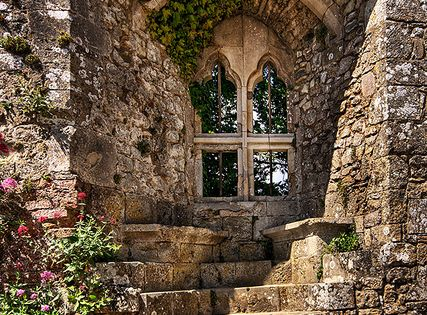 Isabella's Window-- Carisbrooke Castle, Isle of Wight, England. Devon.