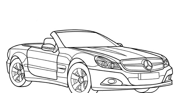 Mercedes Benz Sl Class Coloring Page Cars Coloring Pages Sports Coloring Pages Coloring Pages