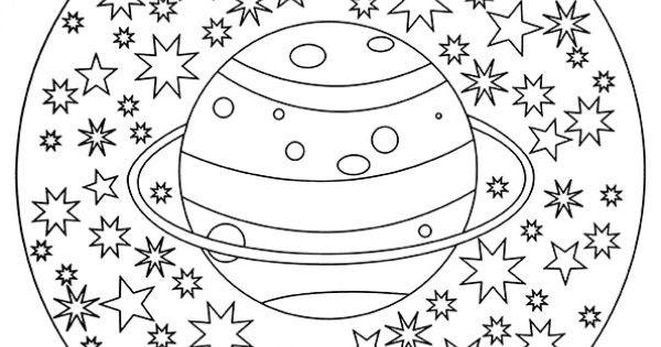 planeten kleurplaat google zoeken de ruimte pinterest mandala coloring and art therapy. Black Bedroom Furniture Sets. Home Design Ideas