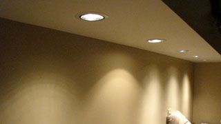 recessed lighting under a soffit