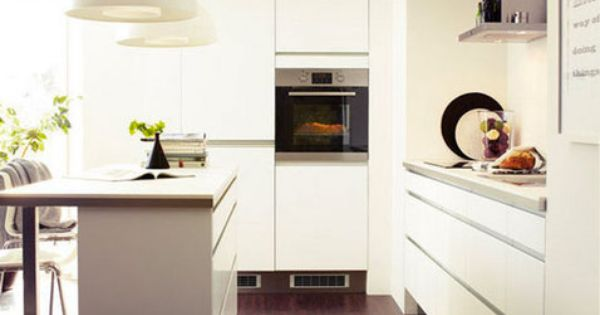 Deco Cuisine Harmonie Couleur Blanc Et Taupe Cuisine Ikea Cocinas Blancas Modernas Diseno De Cocina Cocina Tipo Loft