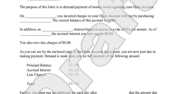 How to write a legal document for money owed
