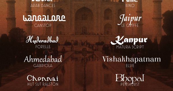 20 Fonts Inspired by India by Wanderlust Designer | Font ...