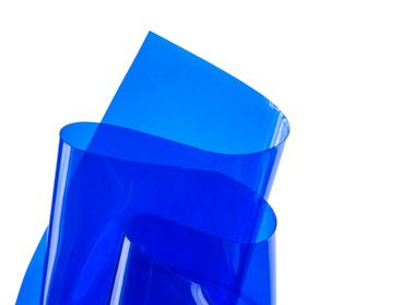 Blue Transparent Vinyl Material Sheeting Vinyl Fabric Transparent Vinyl