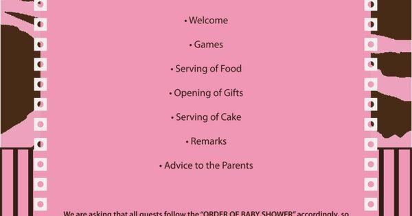 Images Of Baby Shower Agenda Baby Shower Program