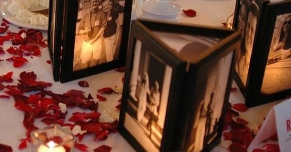 Glue cheap picture frames together and place a tea light inside. DIY,