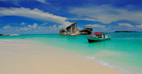 pulau babi belitung. Pig island belitung island Indonesia.Awesome beach with calm sea