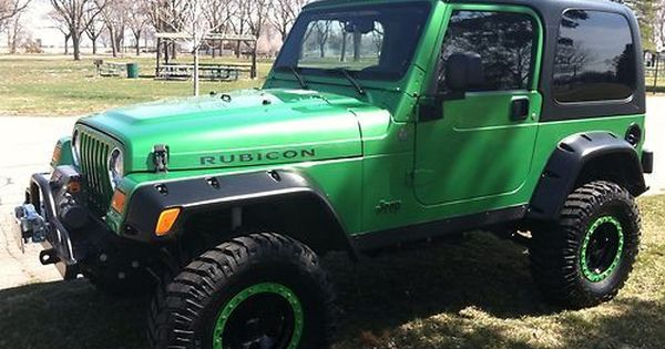 Jeep Wrangler Rubicon Tj 2004 Electric Lime Green Jk Yj Image 2