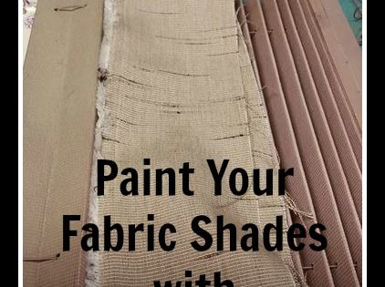 The Purple Painted Lady Painting Fabric Shades With Chalk