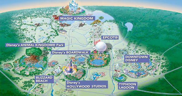 Interactive Map of Walt Disney World Disney Pinterest Walt disney Inte