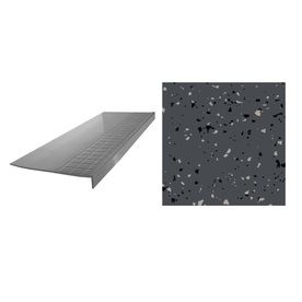 Flexco 12 25 In X 48 In Charcoal Rubber Square Nose Stair Treads 48800 Stairs Stringer Flooring Projects