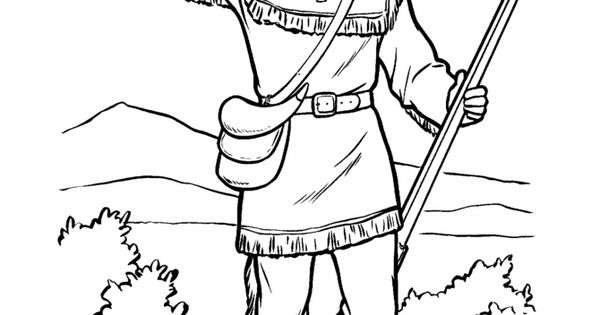 davy crocket coloring pages - photo#11