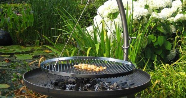 Schwenkgrill au feu de bois schwenkgrill nielsen fire pit for Fabriquer un barbecue pas cher