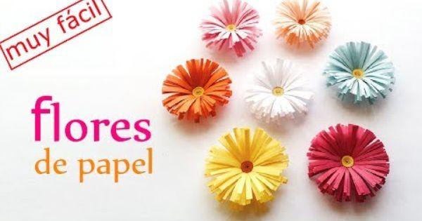 Manualidades flores de papel margaritas f cil y r pido - Youtube manualidades de papel ...