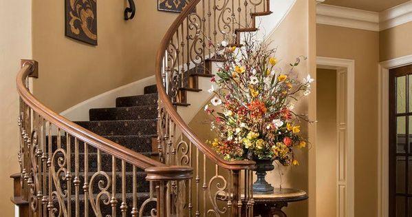 Beautiful Tuscan Staircase | Wesley-Wayne Interiors ᘡղbᘠ ...