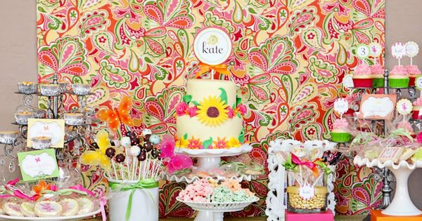 Fairy garden party - love the colors